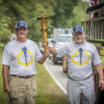 The torch is passed off in Lincoln City, right off of Hwy 162.