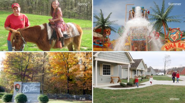 Four seasons in Santa Claus Indiana