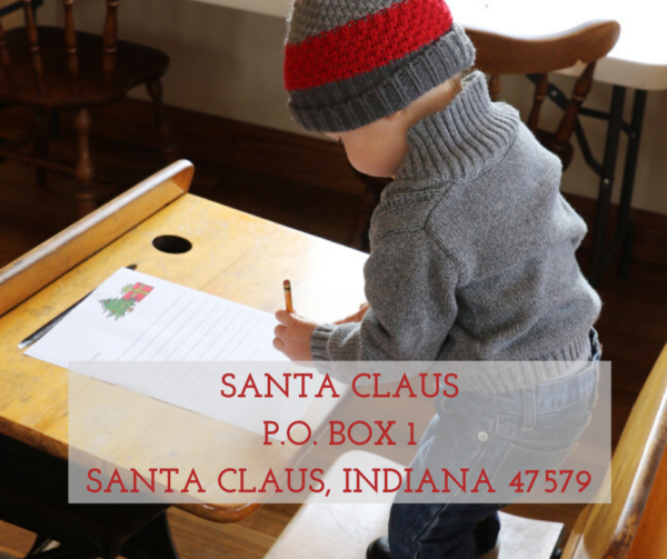 Write Santa in Santa Claus, Indiana