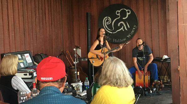 Live music on patio at Monkey Hollow Winery and Distillery