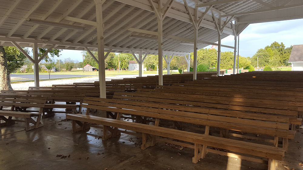 Outdoor tabernacle at the Historic Santa Claus Campground