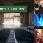 Photos of Lincoln Amphitheatre stage and three of the venue's 2021 performers
